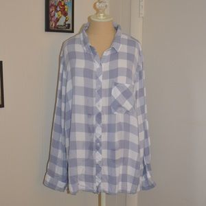 Kenneth Cole Reaction Plaid Button Down Shirt